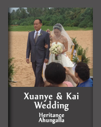 The Chinese couple xuanye & kai´s wedding was planned by 3n events at heritance hotel ahungalla. 3n events wedding planners are specialized in working with foreign clients as well as planning weddings in European outdoor format